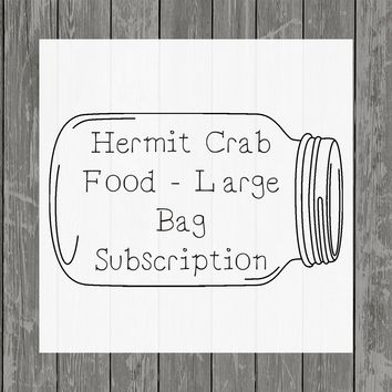 Hermit Crab Food Large Bag Subscription - Hermit Crab Food - Organic - Hermit Crab - Pet Food - Food Subscription