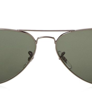 Cheap Ray-Ban RB 3025 Mens Gunmetal/Green Classic G-15 XLT Original Aviator Sunglasses outlet