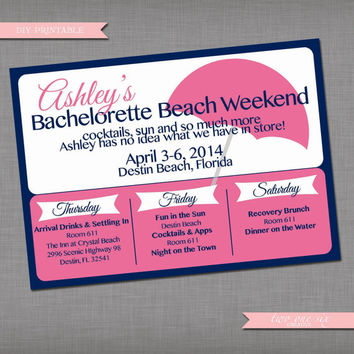 Shop Custom Bachelorette Invitations on Wanelo