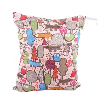 Forest Wet Bags Owl Waterproof Diaper Bag Multi-function Nappy Bag -14*11 inches