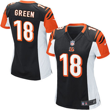 Women's Nike Cincinnati Bengals A.J. Green Game Team Color Jersey