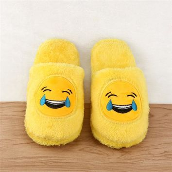 Hot Sale 2017 Cute Unisex Winter Man's Plush Slippers Indoor Shoes House Funny Women S