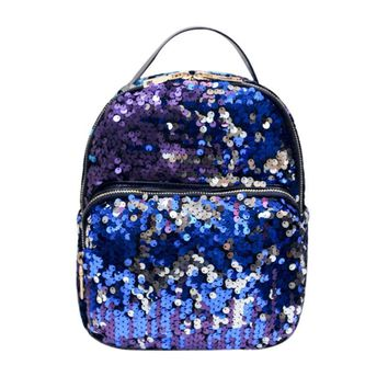 2017 Hot Sale Popular Fashion backpack holographic bag female travel backpack Preppy Style Satchels unicorn bag sac a dos femme