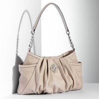 Simply Vera Vera Wang Alicia Pleated Hobo (Beige/Khaki)