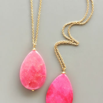 Rose Genuine Quartz Necklace