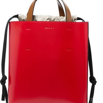 Marni - Museo color-block leather tote