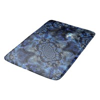 Blue In Violet Light Space Composition Bath Mat