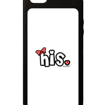 Matching His and Hers Design - His - Red Bow iPhone 5C Grip Case  by TooLoud