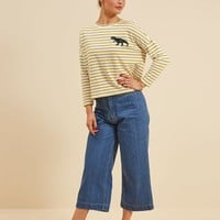 Dina Dinosaur Breton Stripe Top | Vintage-Inspired Striped Jersey | Joanie