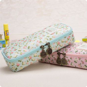 Free shipping kawaii Stationery vintage large capacity brief denim canvas pencil case pencil box /pencil case for pencils school