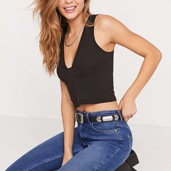 Truly Madly Deeply Tessa Plunging Tank Top - Urban Outfitters