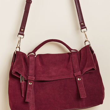 Leather to the Editor Suede Purse