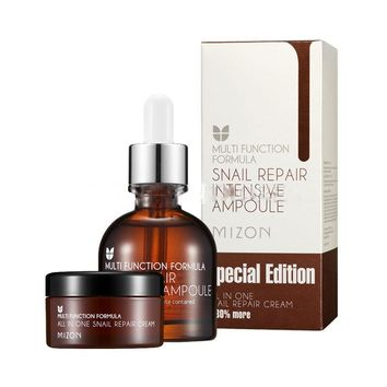 MIZON Snail Repair Intensive Ampoule Special Edition (Ampoule 30ml+Cream 30ml) Face Cream Serum Skin Care BEST Korea Cosmetic