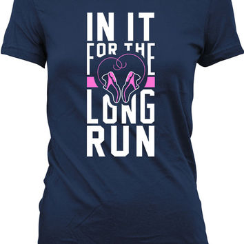 Funny Bride Shirt In It For The Long Run Gifts For Bridal Shower Running Gifts Bride To Be T Shirt Bridal Gifts Ladies Tee WT-146