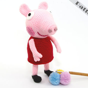 Peppa Pig Soft Toy George Pig's Sister CROCHET PATTERN