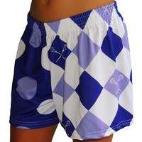 Sublimated Sportabella Dots and Diamonds Loose Short PURPLE - Sportabella, Ltd Store