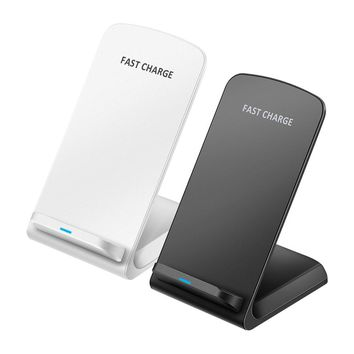 2-coil Wireless Charger Stand Qi-Enabled Devices 10W Non-slip Fast Charging Dock Intelligent Identification for iPhone 8 8Plus X,XS Samsung Galaxy S8 S7 edge S8+ Note 8 Lumia 1520 LG G10 Nexus 5 6 7