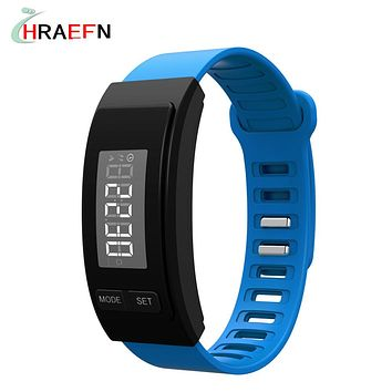HRAEFN Senior gifts smart band Wowfit Passometer date time Calorie fitness tracker bracelet Pedometer step counter sport watch