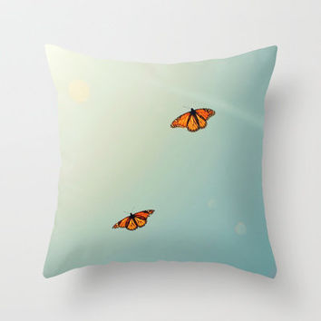 Monarch Sky Love Throw Pillow by RichCaspian