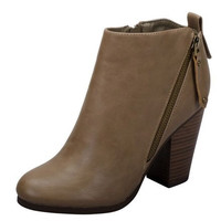 Gail Side Zip Taupe Bootie