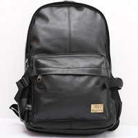 Wanderlust Premium Black Leather Streetwear Backpack