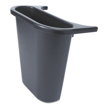 Rubbermaid Commercial FG295073BLA Trash Can Recycling Side Bin Rectangular 7....