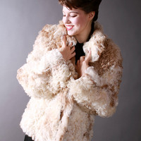 Vintage 1960s Coat - Amazing Mongolian Curly Lamb Fur Coat