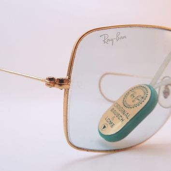Vintage B&L Ray Ban caravan sunglasses NOS w/coil arms etched BL USA KILLER