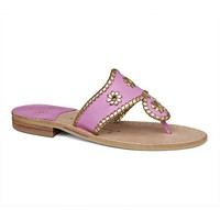 Hollis Sandal in Lavender Pink & Gold by Jack Rogers