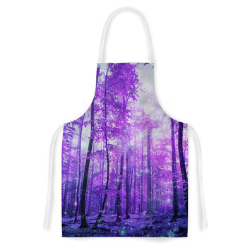 "Iris Lehnhardt ""Magic Woods"" Purple Forest Artistic Apron"