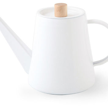 Kaico Drip Kettle, White, Non Electric Tea & Coffee