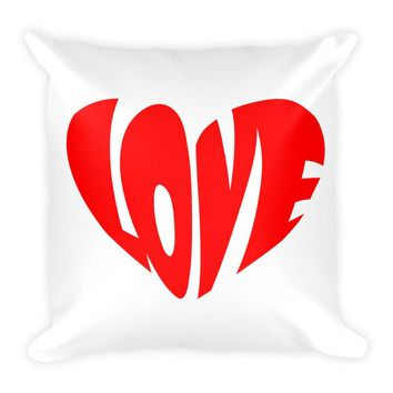 Cute Love in Heart Design For a Square Pillow