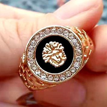 Free shipping-Versace personalized diamond ring