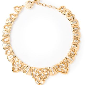 Yves Saint Laurent Vintage glam crystal necklace