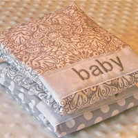 Personalized Burp Cloth Set - Gray Gender Neutral