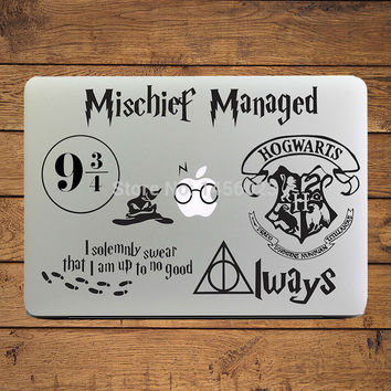 "Harry Potter Decal Set Laptop Sticker for MacBook Air/Pro/Retina 11"" 12"" 13"" Computer Mac Cool skin notebook Creativity Sticker"