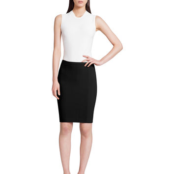 Narciso Rodriguez Scuba Crepe Fitted Skirt - Black