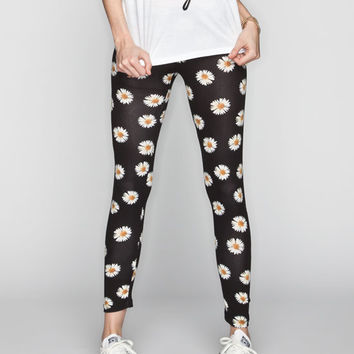 Full Tilt Daisy Womens Leggings Black  In Sizes