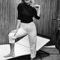 Actress Marilyn Monroe at Home Premium Photographic Print by Alfred Eisenstaedt at Art.com