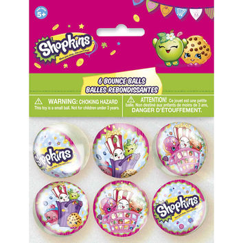 Shopkins Party Favor Bounce Balls [6 per Pack]