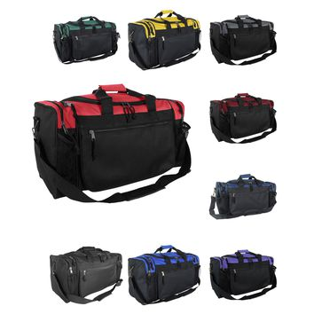 """DALIX 20"""" Sports Duffle Bag with Mesh and Valuables Pockets"""