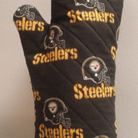 Oven Mitt Pittsburgh Steelers Black by TheGoodOleDays on Etsy