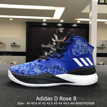Adidas D Rose 8 Men Blue Black White Boost Basketball Shoes