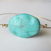 Turquoise Bracelet Turquoise Jewelry Beach Jewelry Bohemian Jewelry Bridal Party Gift For Her Bohemian Bracelet Stacking Bracelet Earthy