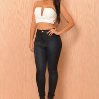 Indulge Crop Top - Ivory