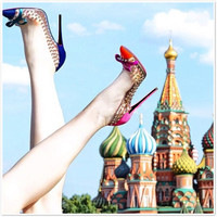 Pointed Toe High Heel Butterfly Rivet Shoes = 4814666948