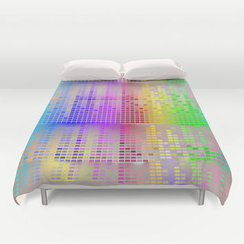 Colorful music Duvet Cover by Acus