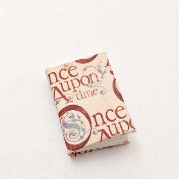 Mini Book, Once Upon a Time, Handbound Journal, Blank Book, Fairytale Notes, Minature Books, Fairy Tales