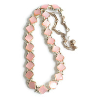 Pink Moonglow Necklace Signed Coro Thermoset Plastic Vintage