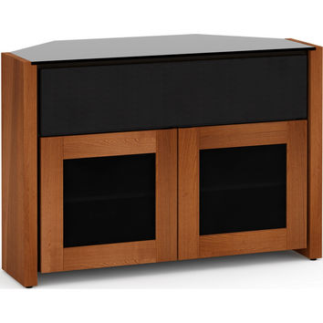 Corsica 44 Inch Extra Tall Corner TV Stand Cabinet Center Speaker Opening American Cherry
